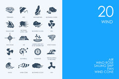 Set of BLUE HAMSTER Library wind icons Royalty Free Stock Photos