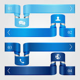 Set of blue infographic Royalty Free Stock Image
