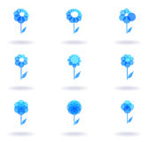Set of blue logos royalty free illustration