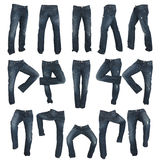 Set of blue male jeans Stock Image