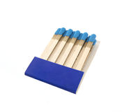 Set of blue matches Royalty Free Stock Photography