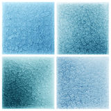 Set blue mosaic tile pattern  background Stock Photos