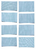 Set Of Blue Papers Royalty Free Stock Photo