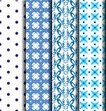 Set Blue patterned Stock Photography