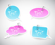 Set of blue pink stickers. Royalty Free Stock Photography