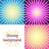 Scroll on a background of sunlight vector illustration