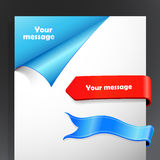 Set of blue and red ribbons Royalty Free Stock Images