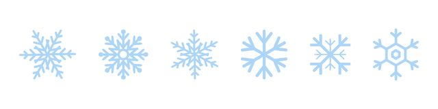 Set of blue Snowflakes icons. Black snowflake. Snowflakes template. Snowflake winter. Snowflakes icons. Snowflake vector icon. Eps10 stock illustration