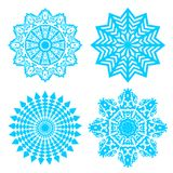 Set of blue snowflakes isolated on white. Vector illustration. Set of blue snowflakes isolated on white. Vector illustration Stock Images