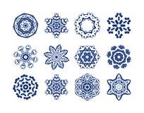 Set of blue snowflakes. Royalty Free Stock Photos