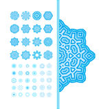 Set of blue snowflakes. Royalty Free Stock Images