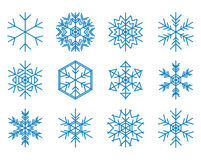 Set of blue vector snowflakes Royalty Free Stock Photography