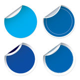 Set of for blue  stickers Royalty Free Stock Photos