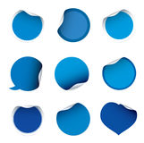 Set of blue  stickers Stock Photo