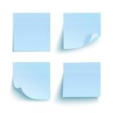 Set of blue sticky notes Stock Photo