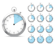 Set of blue timers Stock Image