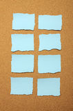 Set of blue torn piece of paper Royalty Free Stock Photos