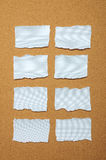 Set of blue torn piece of paper Royalty Free Stock Photo