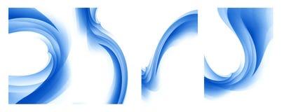Set of blue twirls and waves Stock Photo
