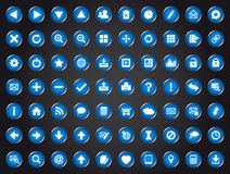 Set of blue universal web icons Stock Photography