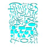 Set of blue vector arrows and geometric shapes Stock Photography