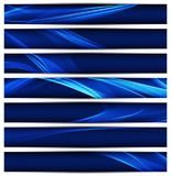 Banners template with wavy background stock illustration