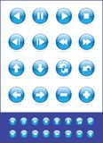 Set of blue vector icons Royalty Free Stock Photography