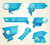 Set of blue vector progress, version, step icons. Royalty Free Stock Photos