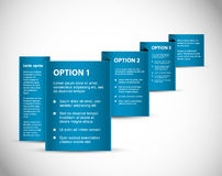Set of Blue Vector Sample option paper origami Royalty Free Stock Photo
