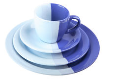 Set of blue ware Stock Photography
