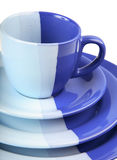 Set of blue ware Stock Photos