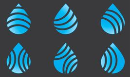 Set Of Blue Water Drop Logo Template Water Drop Icon Water Drop Sign Stock Photo