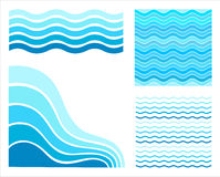 Set blue waves Royalty Free Stock Photos