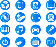 Musical icons Royalty Free Stock Photo
