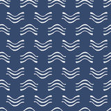 Set of blue and white sea vector seamless pattern. Scrapbook design elements. Abstract hand drawn fabric texture.  Royalty Free Stock Photos