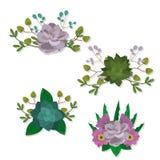 Set Blumen stock abbildung