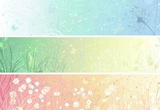 Set Blumenfahnen Stockfoto