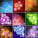 Set Blumenhintergründe Lizenzfreies Stockbild