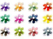 Set Blumenikonen   Stockbilder