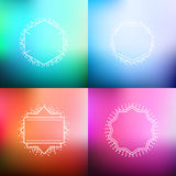 Set of blurred abstract backgrounds Stock Photo
