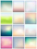 Set of blurred abstract backgrounds for Your design Stock Photos