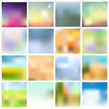 Set of blurred backgrounds Stock Image