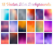 Set Blurred Backgrounds. Big set of  blurred backgrounds. The collection covers for your projects. Colored meshes for presentations and web projects Royalty Free Stock Photography