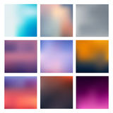 Set Blurred Backgrounds Royalty Free Stock Photos