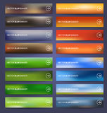 Set blurred colored banners Stock Photo