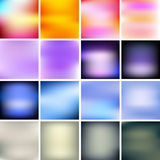 Set of blurred patterns Stock Photos