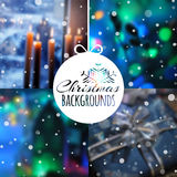 Set of blurred vector Christmas backgrounds. Set of blurred vector Christmas or New Year backgrounds for your design. Vector illustration Stock Photography