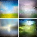 Set of blurry backgrounds. Abstract geometric Royalty Free Stock Photography