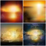 Set of blurry backgrounds. Abstract geometric Stock Photos