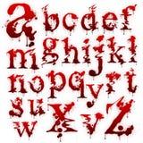 Set blutige Zeichen getrennt stock abbildung